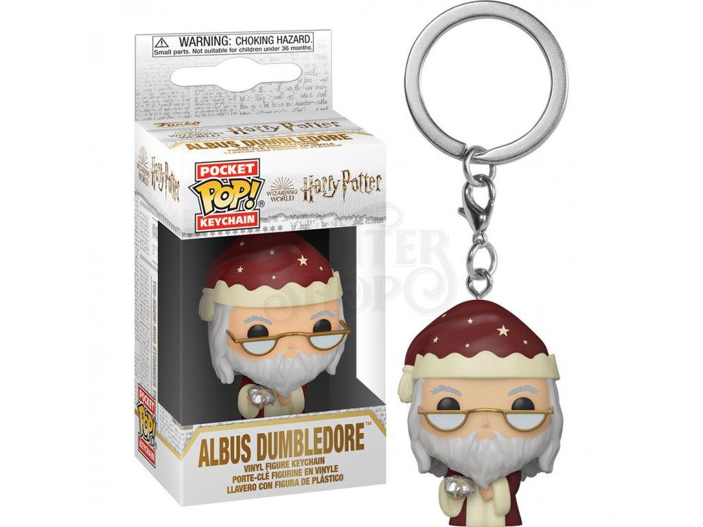 Harry Potter Pocket POP! Vinyl Klíčenka Albus Brumbál s dárkem