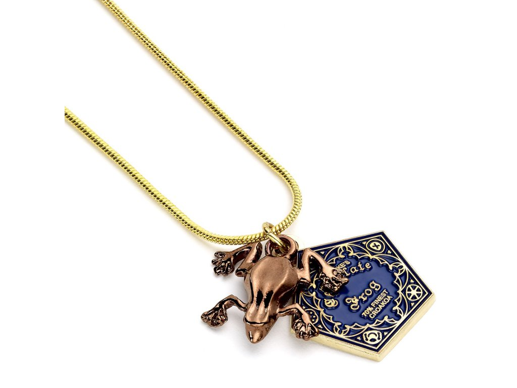 hp necklace chocolate frog close up