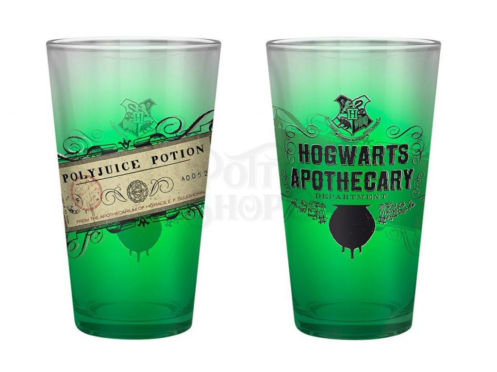 harry potter large glass 400ml polyjuice potion x2