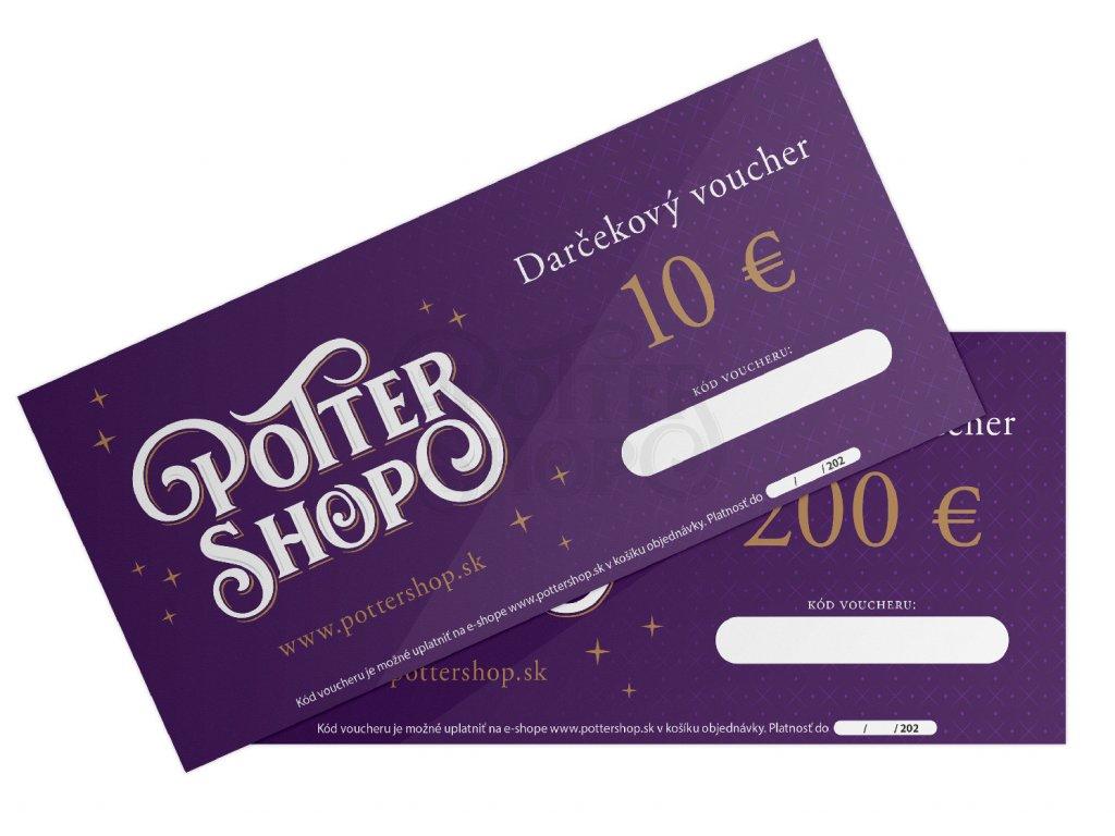 Pottershop voucher darkovy euro 2