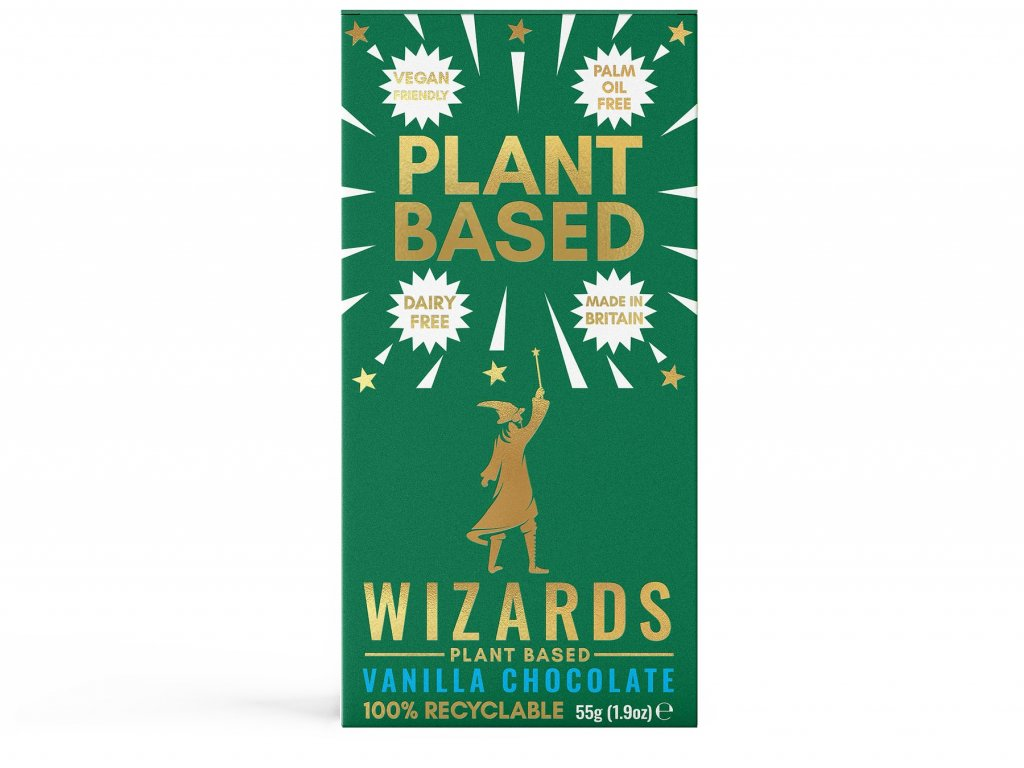 harry potter cokolada wizards magic plant based vanilka