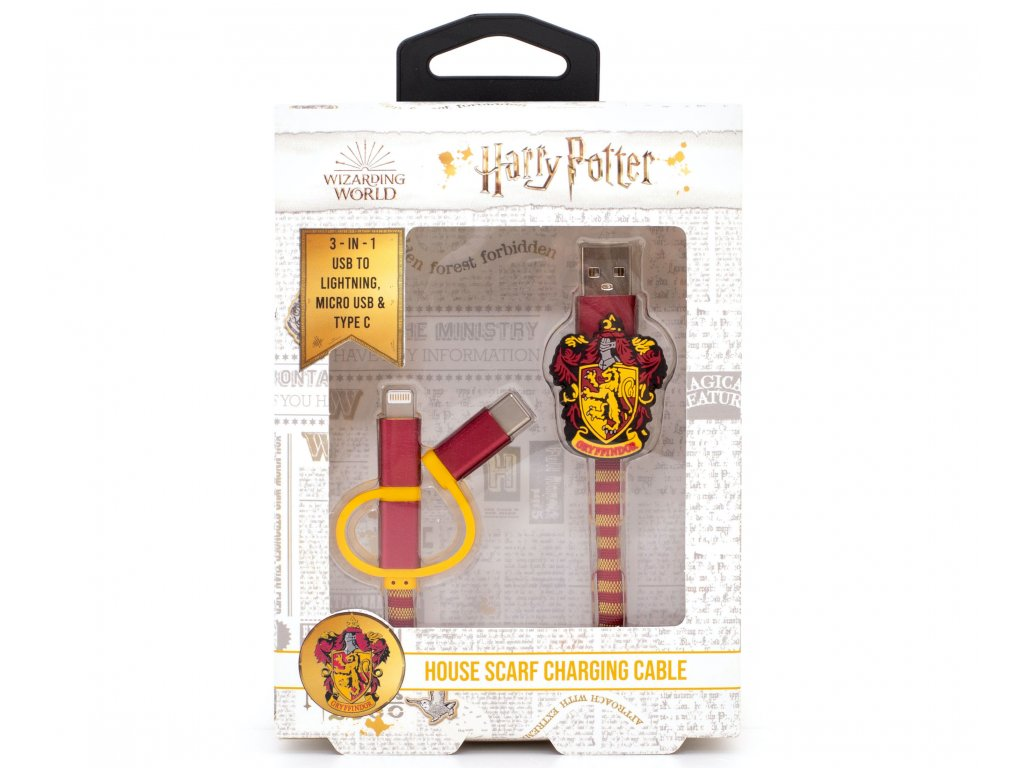 3705 HP USB Cables Gryffindor Front Packaging