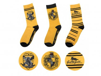 29183 harry potter socks 3 pack hufflepuff cinereplicas