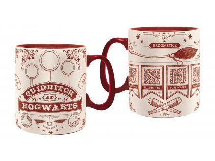 harry potter mug 460 ml quidditch box x2