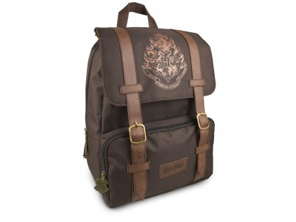 91794 Harry Potter Hogwarts Brown Flap Over Backpack 1280x1800