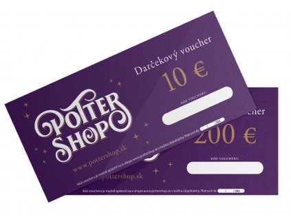 Pottershop voucher darkovy euro 2