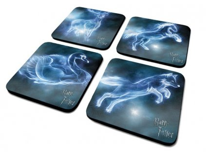 HARRY POTTER 4 COASTER SET PATRONUS 5050574895538 Z
