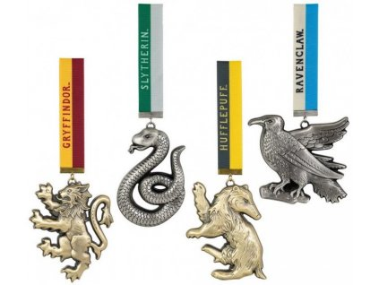 51422 harry potter tree ornaments hogwarts mascots 4 pack noble collection