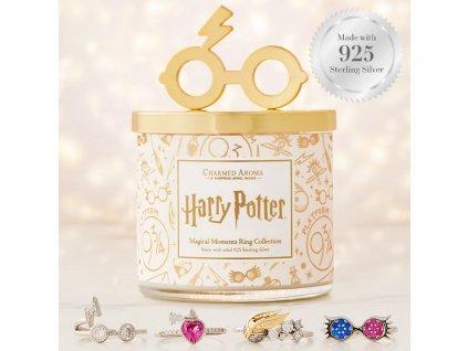 Charmed Aroma Harry Potter Magical Moments Candle s prstenem  se stříbrným (925) prstenem