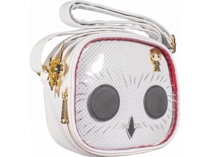 louhptb0157 harry potter hedwig pop cosplay pin trader 8 inch faux leather crossbody bag popcultcha 01