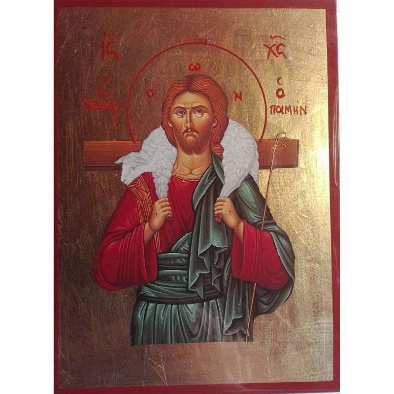 Ikona-Jezise-Krista-jako-dobreho-pastyre
