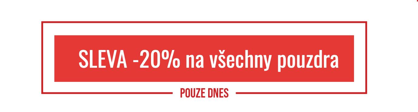 DNES SLEVA -20% NA POUZDRA - DESKTOP