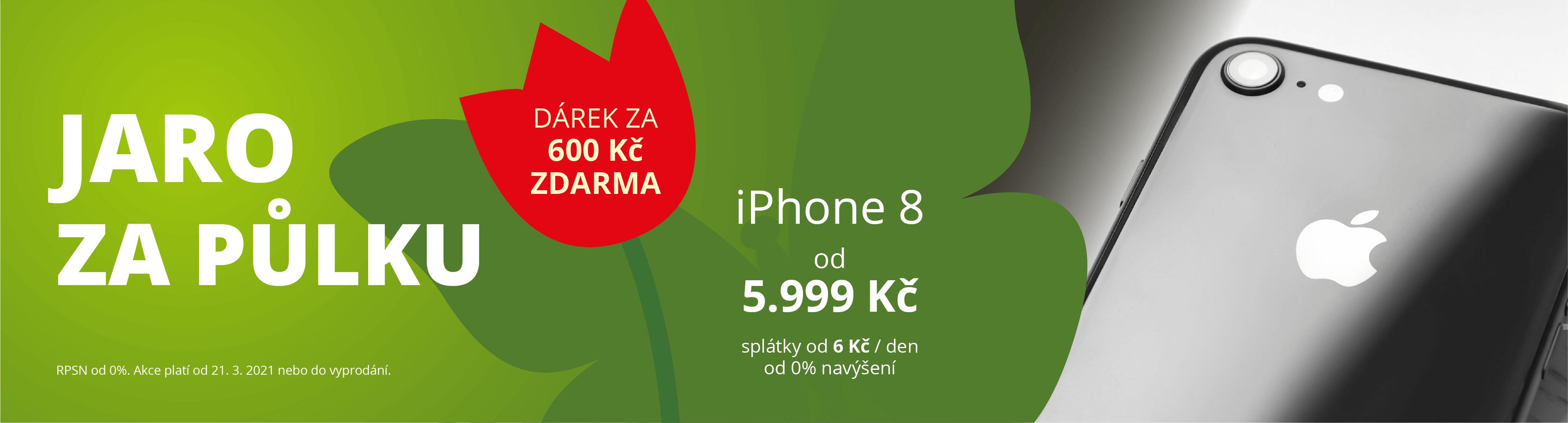 iPhone 8 jaro 2021 za půlku (DESKTOP)