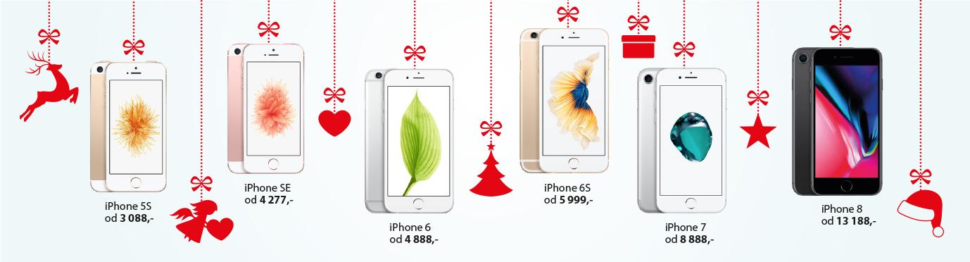 vanoce - visici telefony
