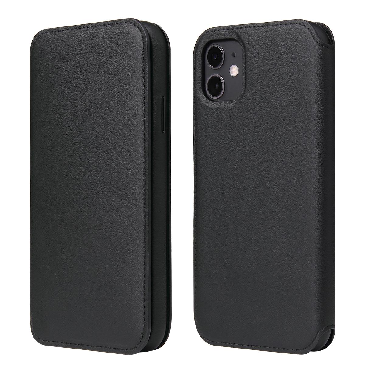MasterMobile Kožené TPU flipové pouzdro PREMIUM pro iPhone Xs Max Barva: Černá (Black)