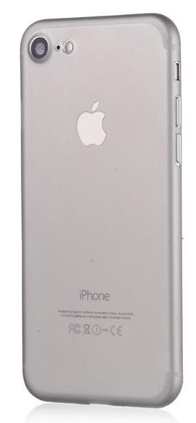 Ultra tenký plastový kryt MasterMobile STANDARD pro Apple iPhone 6 / 6s poloprůhledný matný s výřezem pro logo Barva2: Šedá (grey)