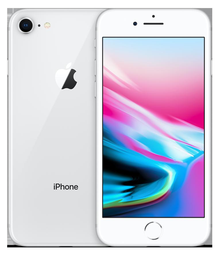 iPhone 8 Silver (bílo-stříbrný) + DÁRKY za 500 Kč + 33 dní výměna ZDARMA Paměť: 64GB, Kategorie: C+