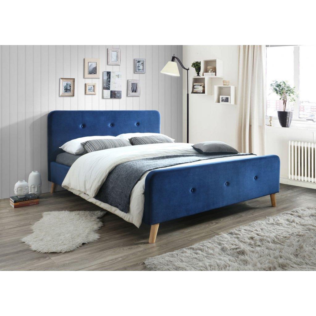 Velvet Malmo Blue 160x200