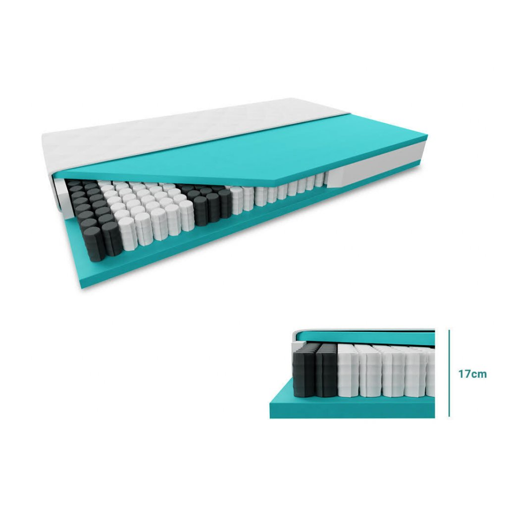 Taštičková matrace SOMNIA 17 cm 120 x 200 cm