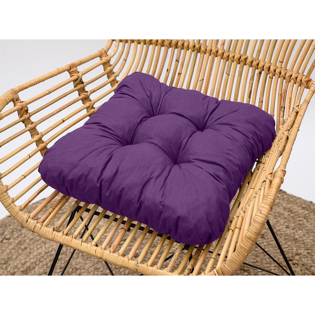 Podsedák na židli Soft fialový