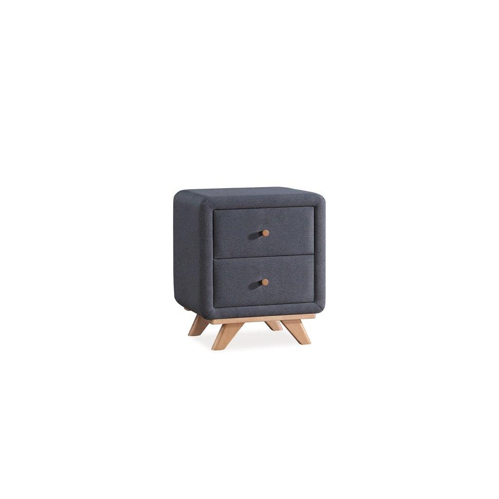 Noční stolek MELISSA šedý