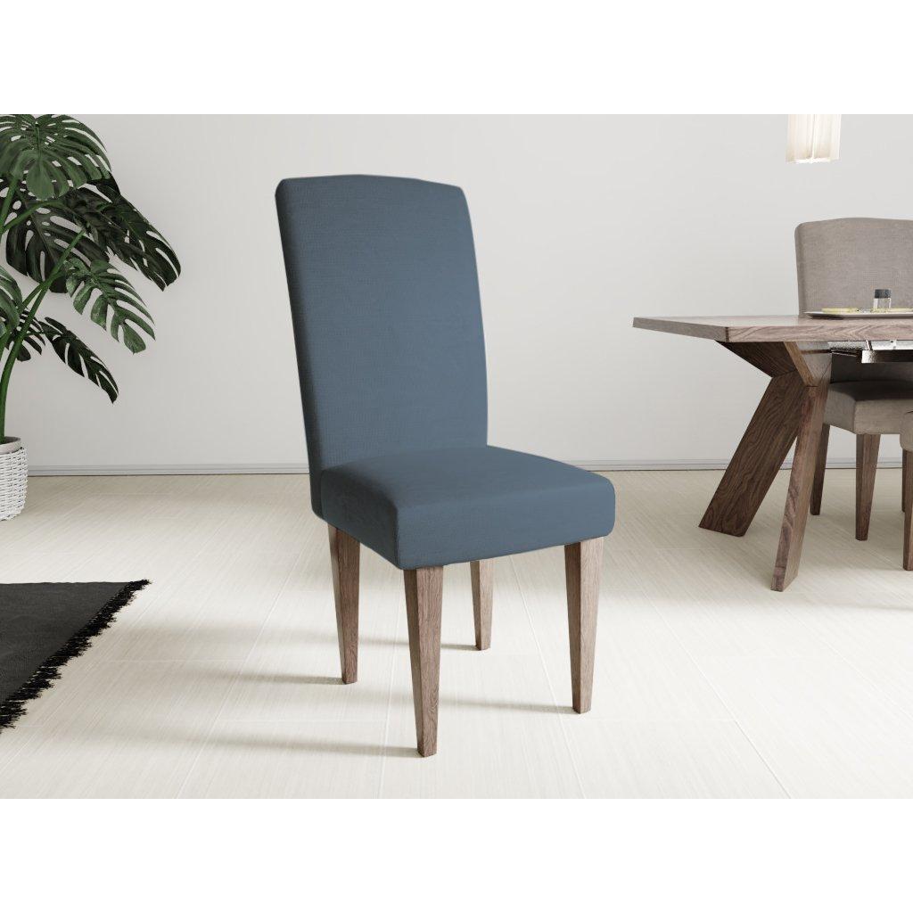 Napínací potah na židli s opěradlem Classic modrý