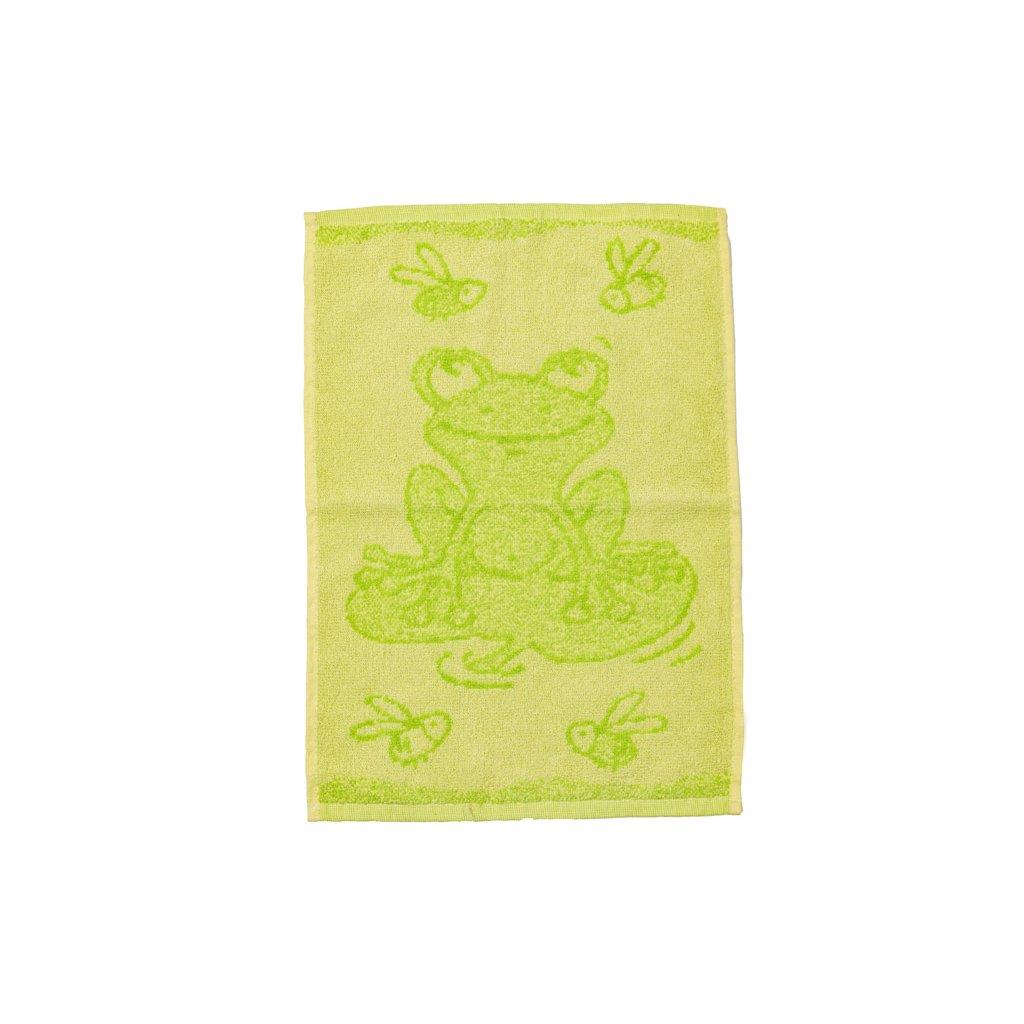 Dětský ručník BEBÉ žabička zelený 30x50 cm
