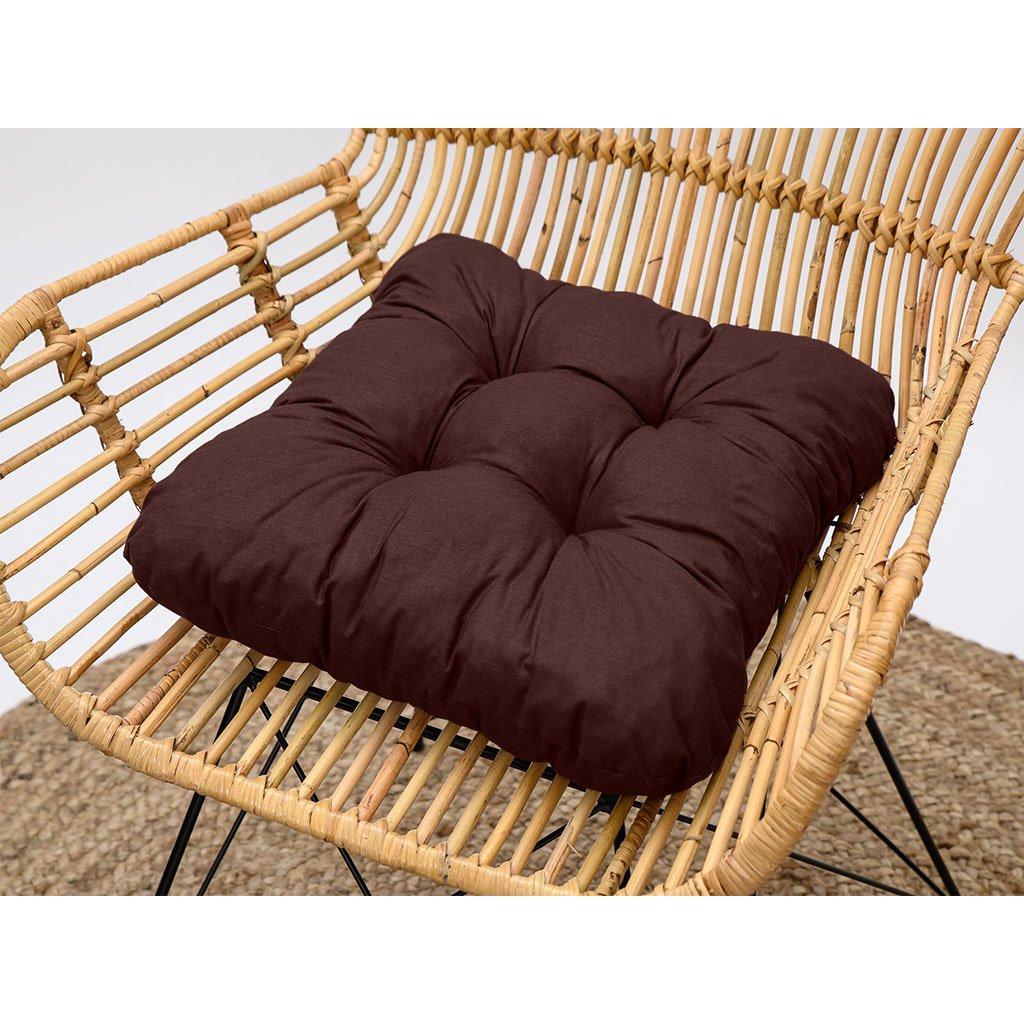 Podsedák na židli Soft čokoládový