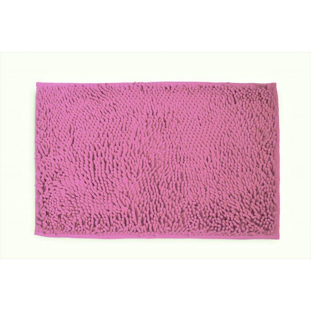 Koupelnová přednožka hotelová rohožka bavlněná mikrovlákno žinylková růžová