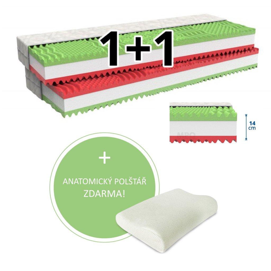Matrace 1+1 XENA 2 ks 80 x 200 cm