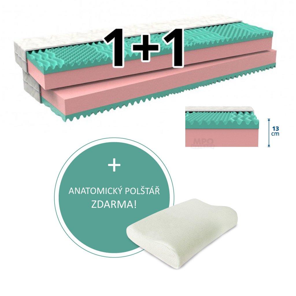 Partnerská matrace 1+1 KLAUDIE 2 ks 140 x 200 cm