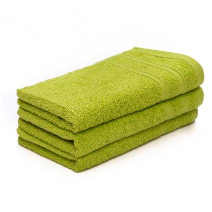 Ručník malý dětský 30 x 50 cm pro hosty bavlněný zelený