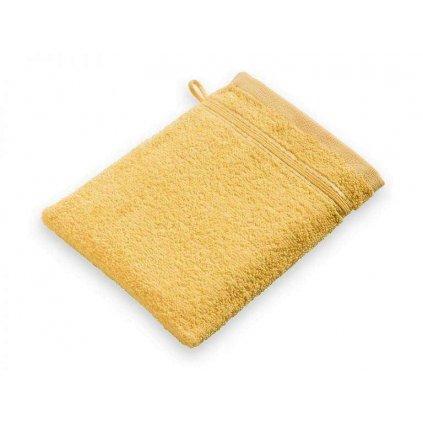 Žínka mycí bavlněná dětská žlutá