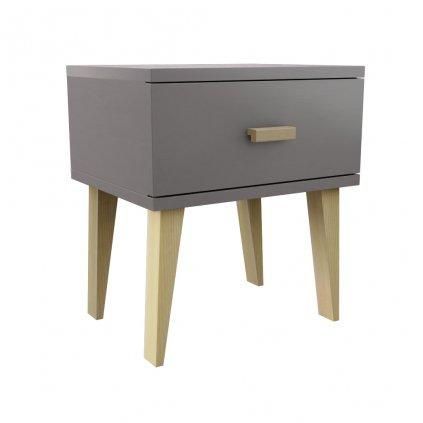Noční stolek Venuci šedý