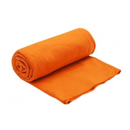 fleecova deka oranzova 150x200