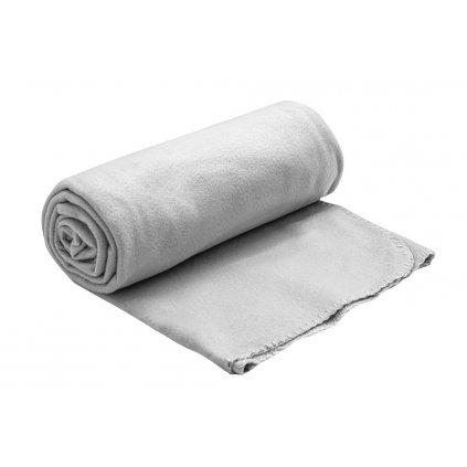fleecova deka seda 150x200