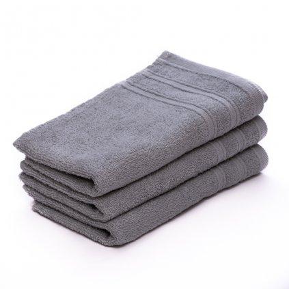Dětský ručník Bella šedý 30x50 cm