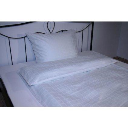 Hotelové povlečení Atlas Grádl bílá kostka SPREE