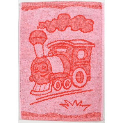 Dětský ručník BEBÉ mašinka červený 30x50 cm