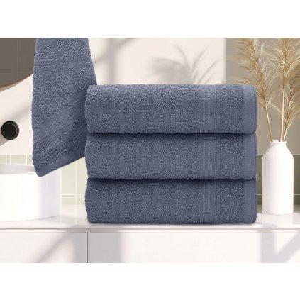 Ručník Basic tmavě šedý