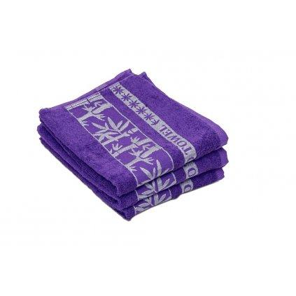 Bambusový ručník BAMBOO fialový