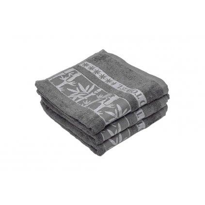 Bambusový ručník BAMBOO šedý
