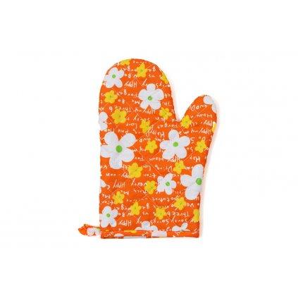 Kuchyňská chňapka Květinka oranžová