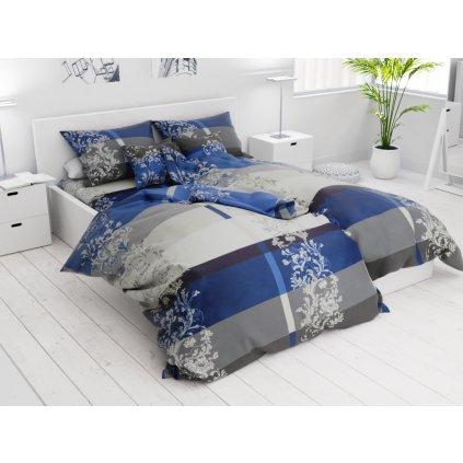 Bavlněné povlečení 7 dílné Luxury modré