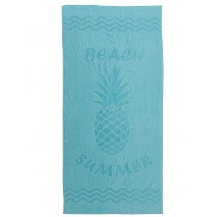 Plážová osuška Ananas modrá