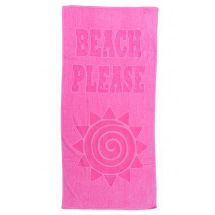 Plážová osuška Beach růžová