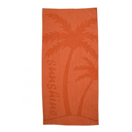 Plážová osuška Palma oranžová
