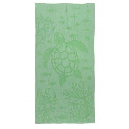 Plážová osuška Turtle zelená