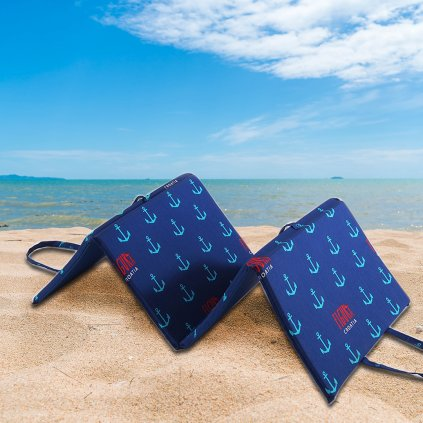 Plážové lehátko KOTVIČKY modré
