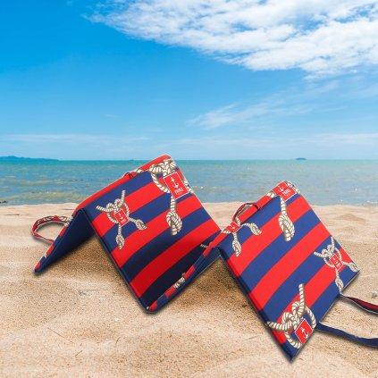 Plážové lehátko LODNÍ LANO červené
